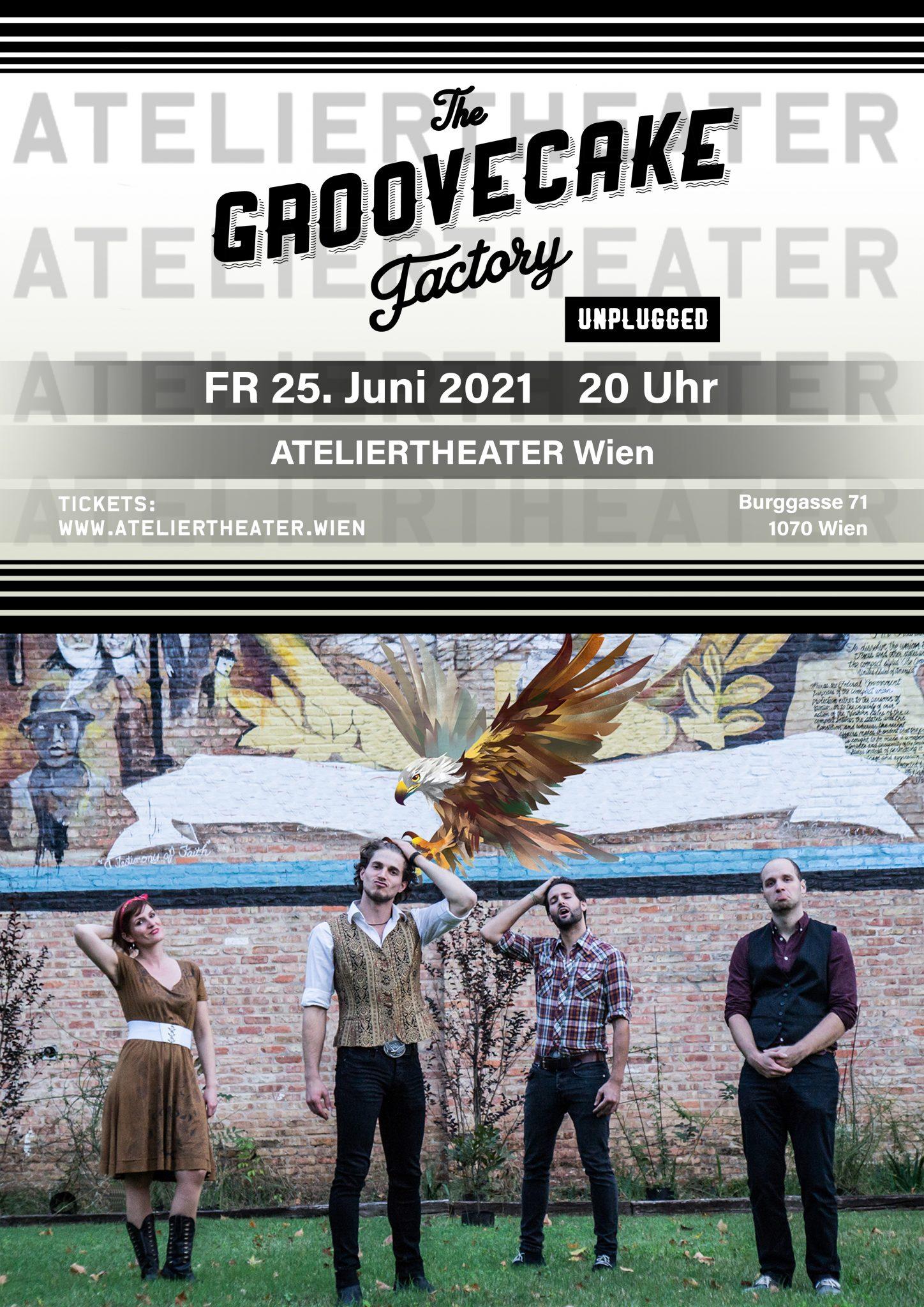 Plakat Ateliertheater The Groovecake Factory